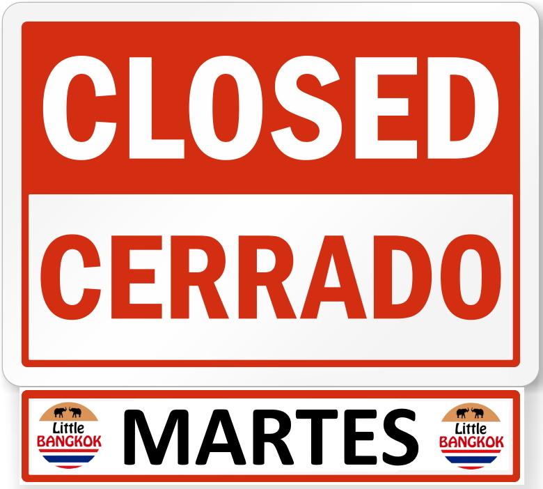 Martes Cerrado