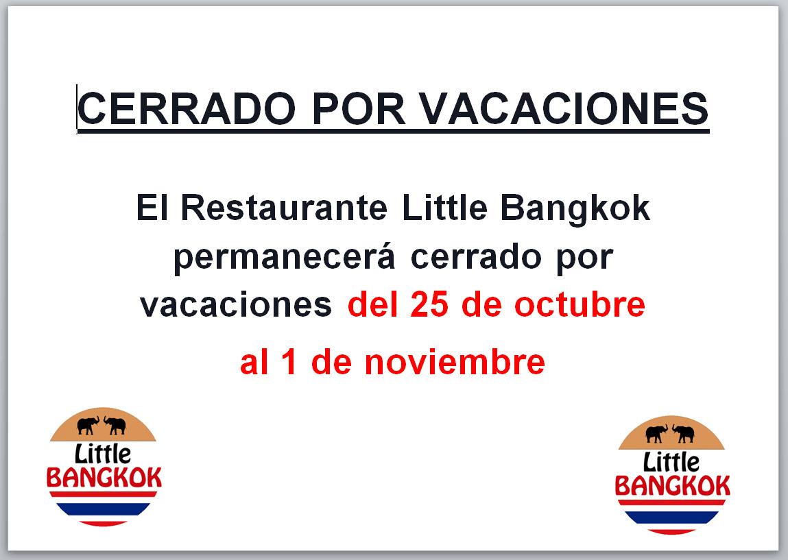 Cerrado por vacaciones - Octubre 2021